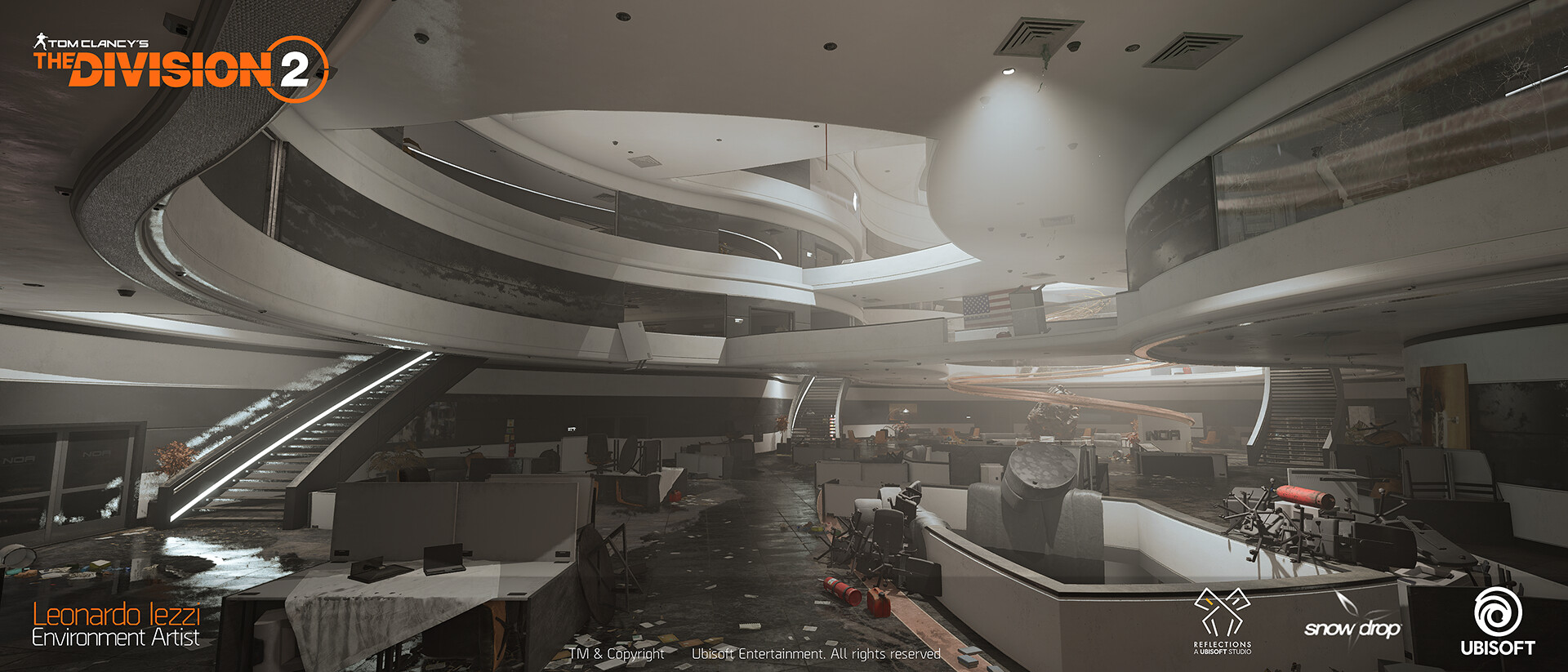 Leonardo iezzi leonardo iezzi the division 2 environment art 02 atrium 018 wide