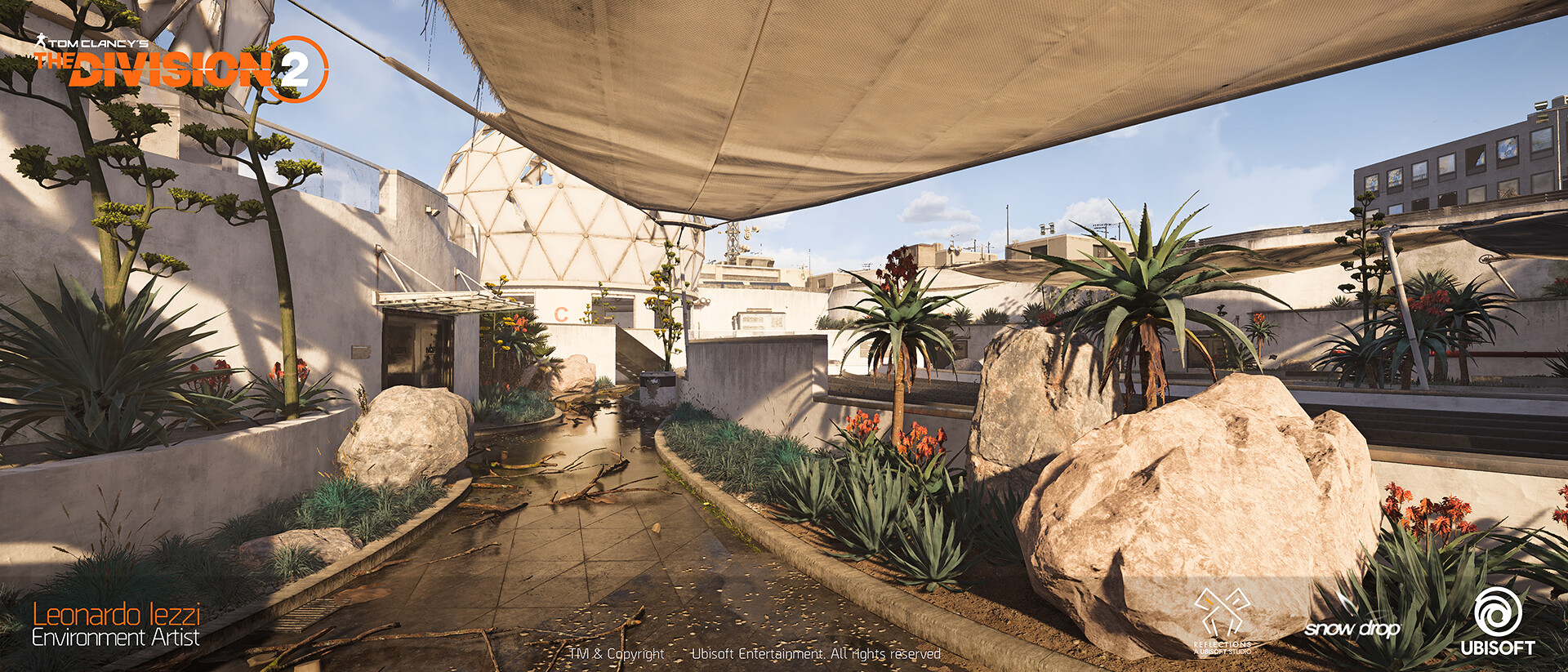 Leonardo iezzi leonardo iezzi the division 2 environment art 04 rooftop 011 wide