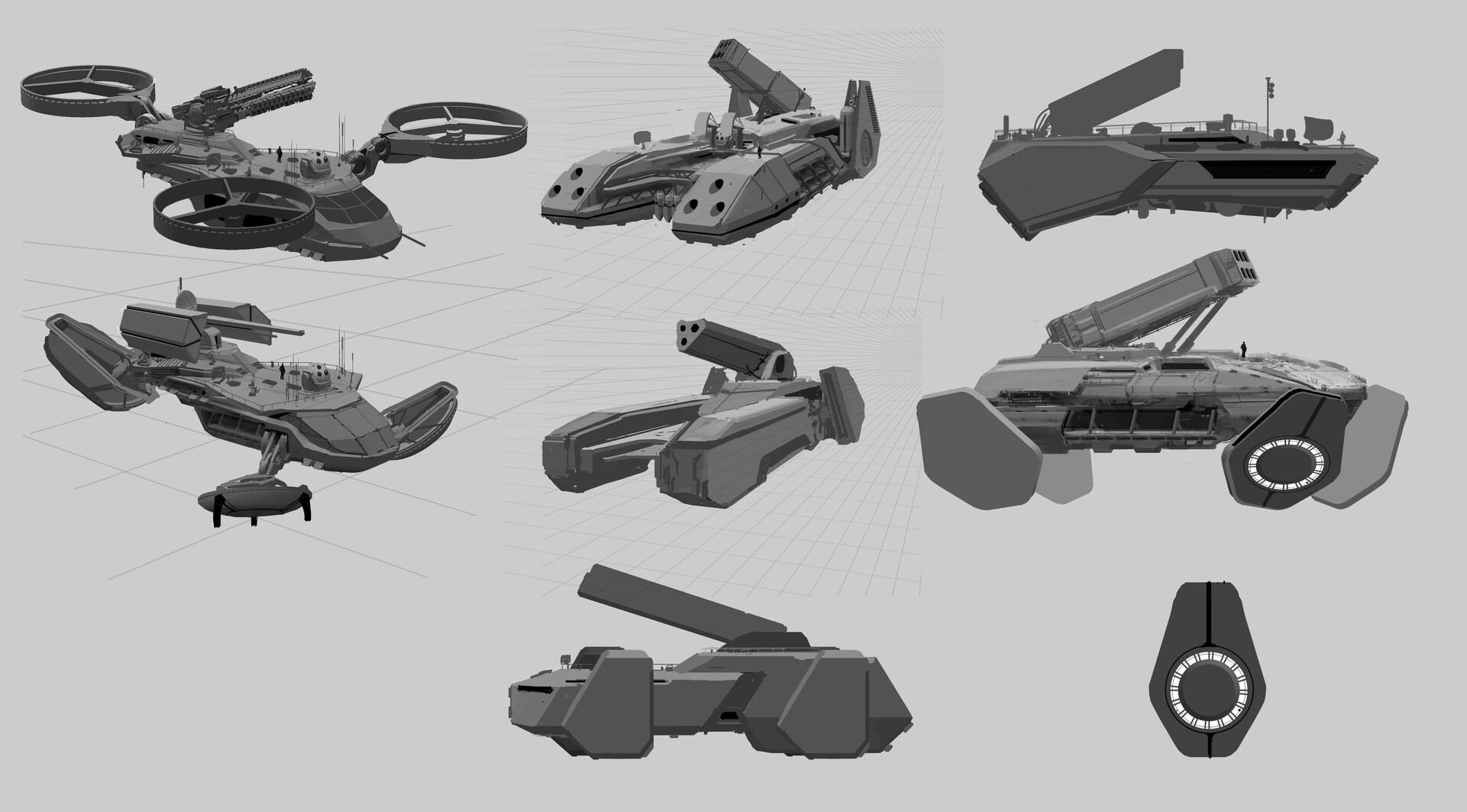 Tu bui hover gun platform sketches tb