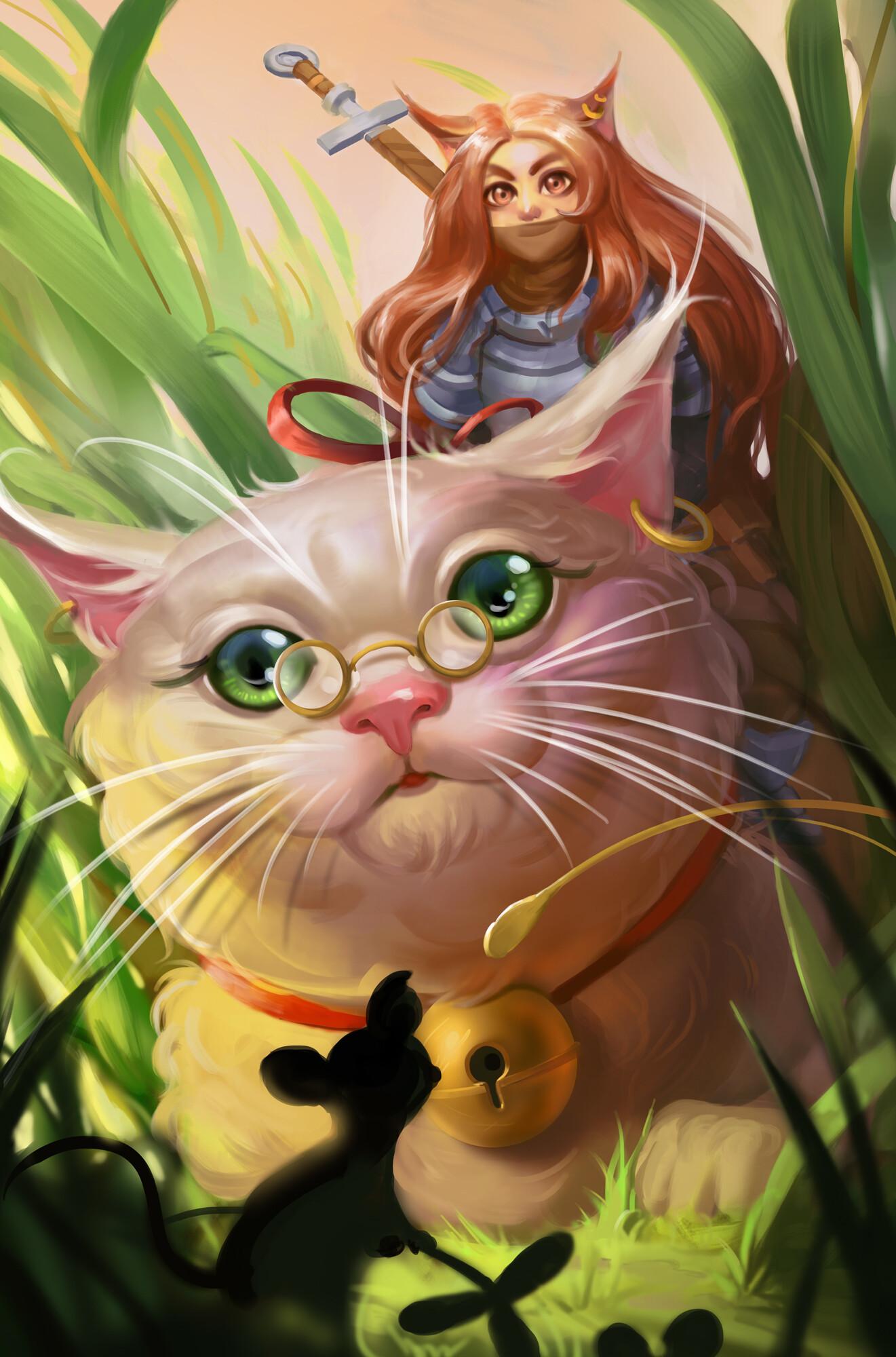 Kevuru games girl with cat2