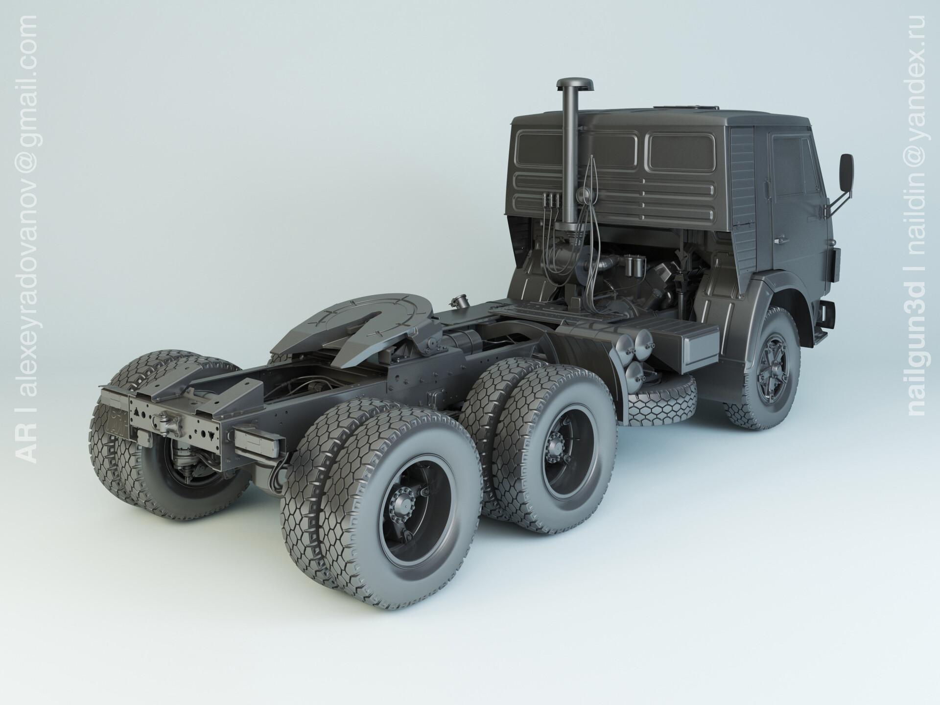 Nail khusnutdinov alg 042 002 kamaz 54112 modelling 1