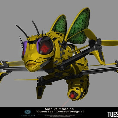 Christopher goodman queen bee drone design v2 attack mode