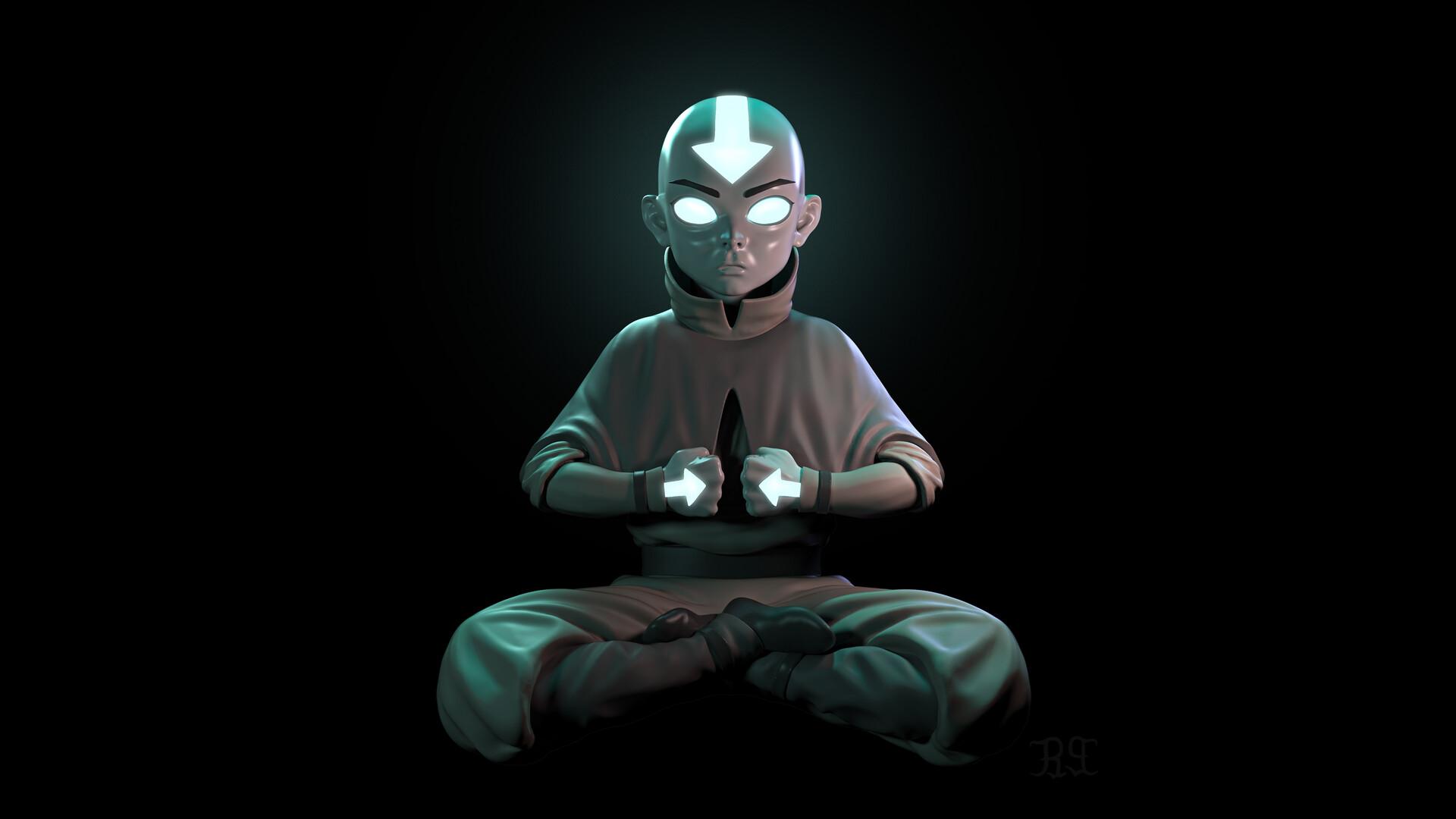 Artstation Avatar Aang The Last Airbender Sm Bonin