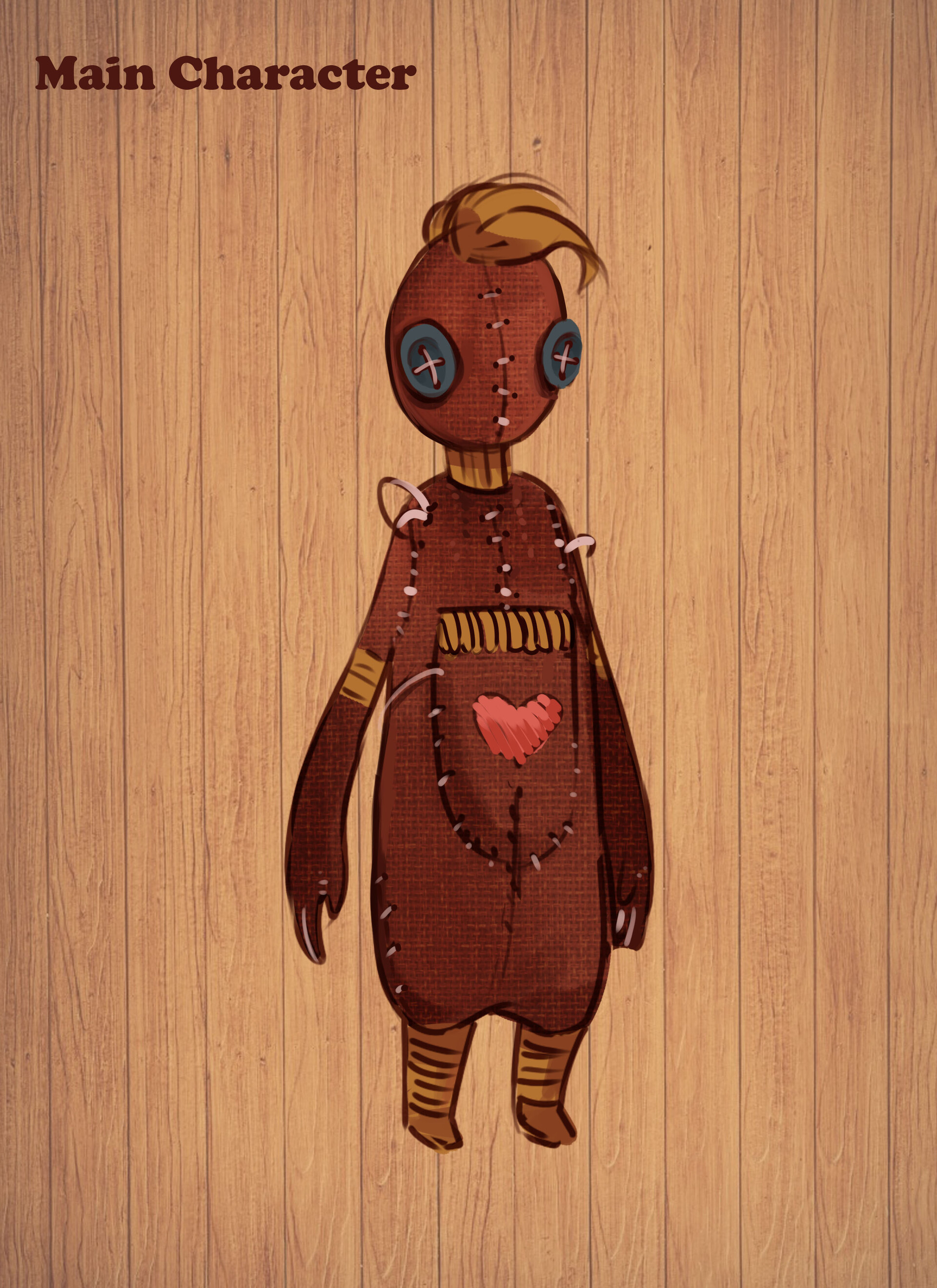 Main Character Concept Art by Tiffani Trogi