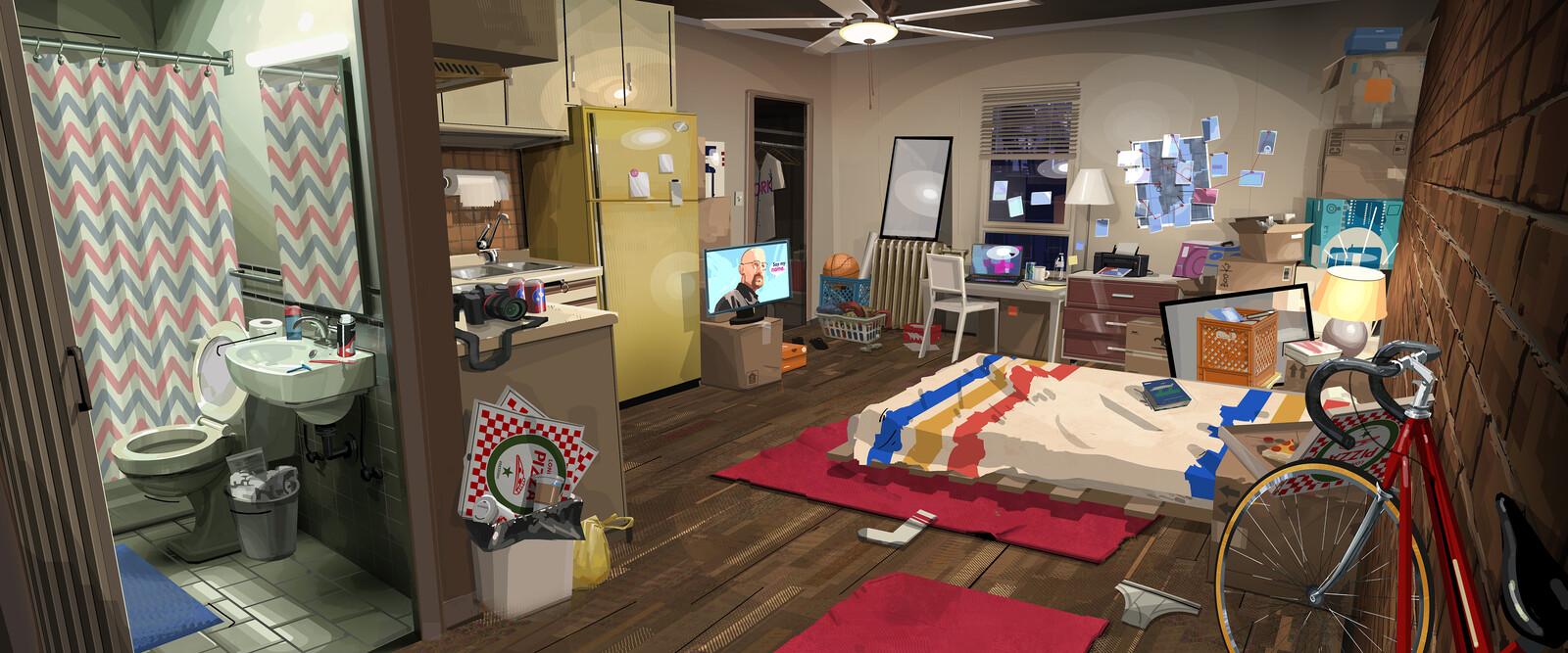 Spider-Man: Into the Spider-verse Burrito Peter's Apartment