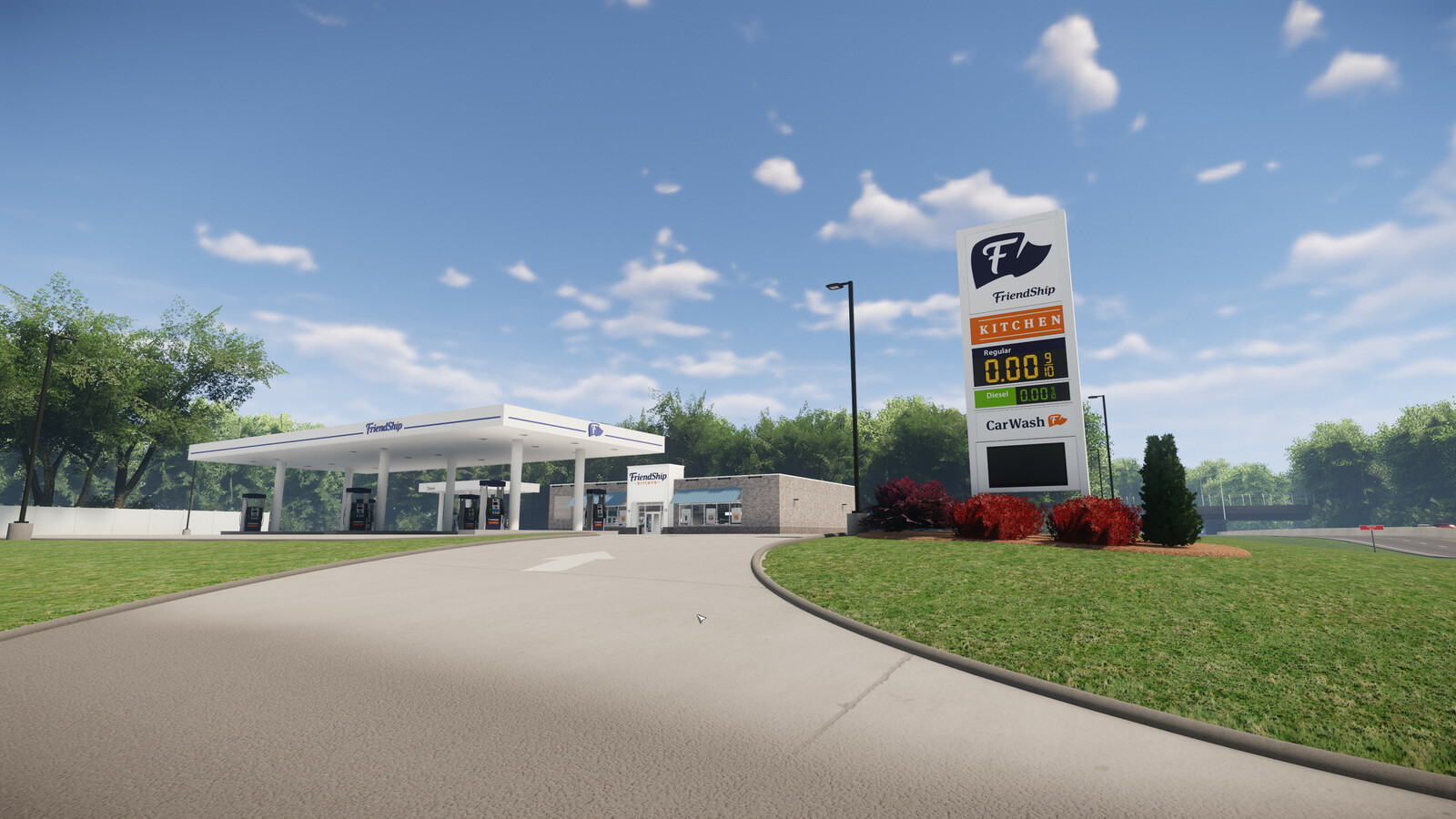 Architectural Visualization Friendship Elyria, OH Gas Station
