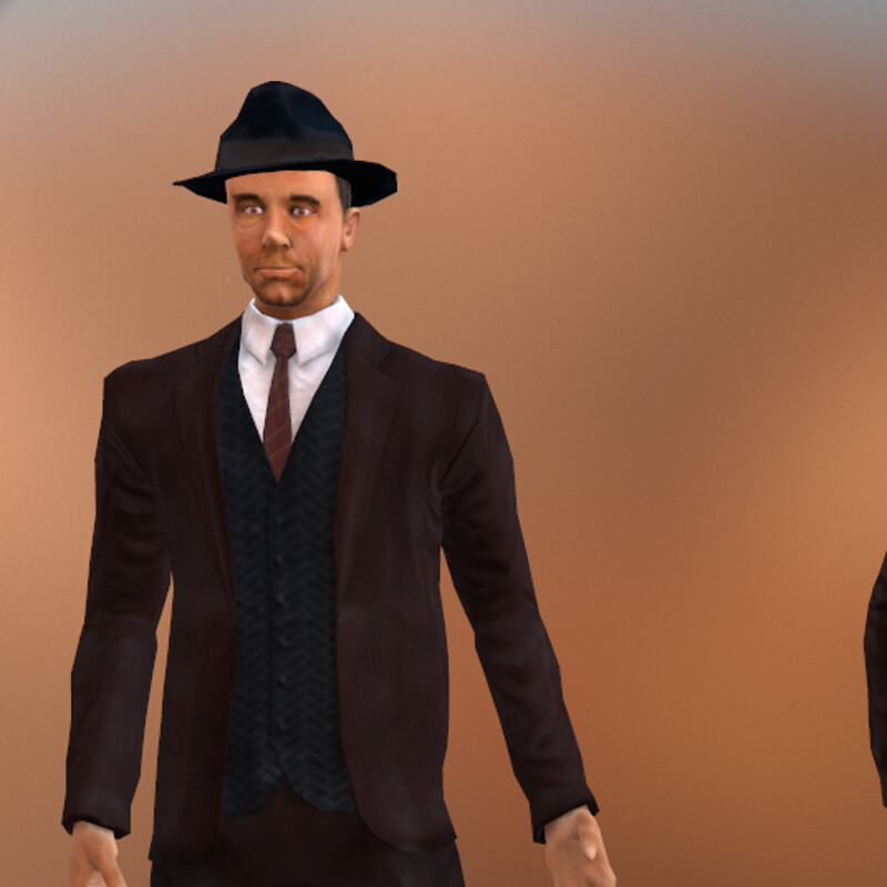 Mobsters: The Game - John Dillinger Character Model