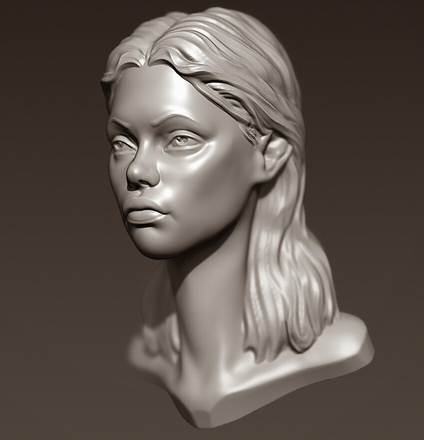 2 hour Zbrush Head Sculpt Timeplapse