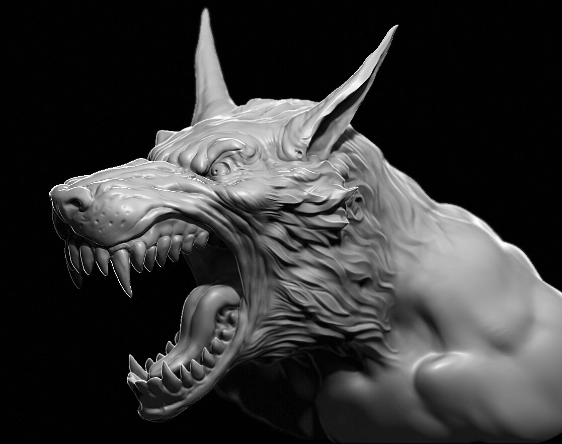 Paul Bonner Wolfman sculpt