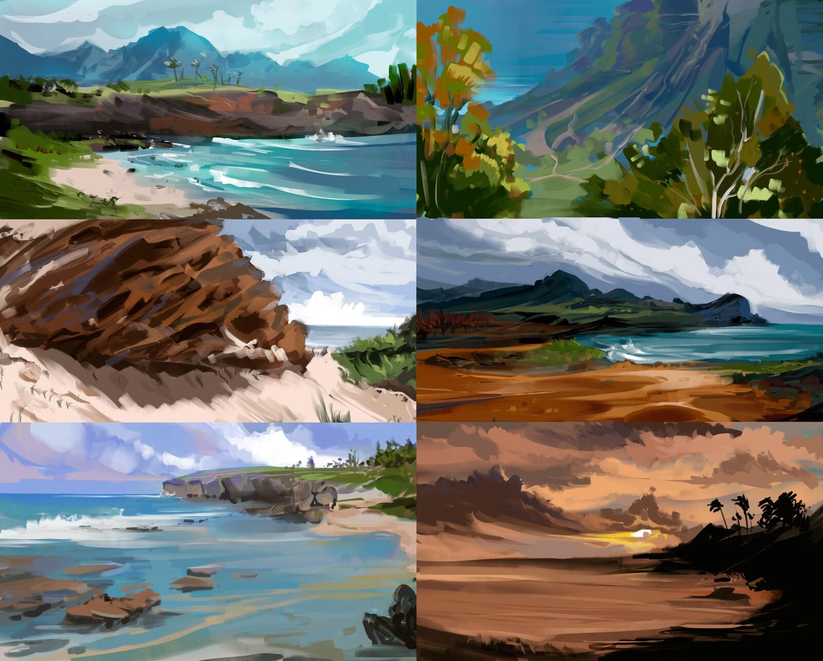 Hawaii Thumbnail Paintings
