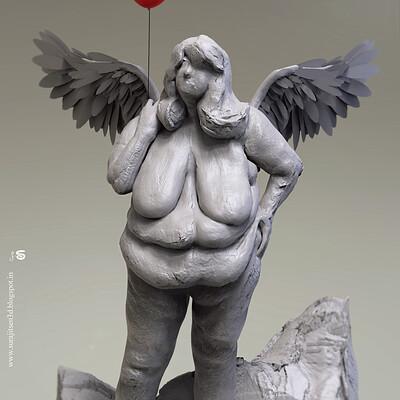 Surajit sen the fairy womens day surajitsen digital sculpt march2019