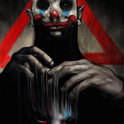 Jon yousef batman clown face study