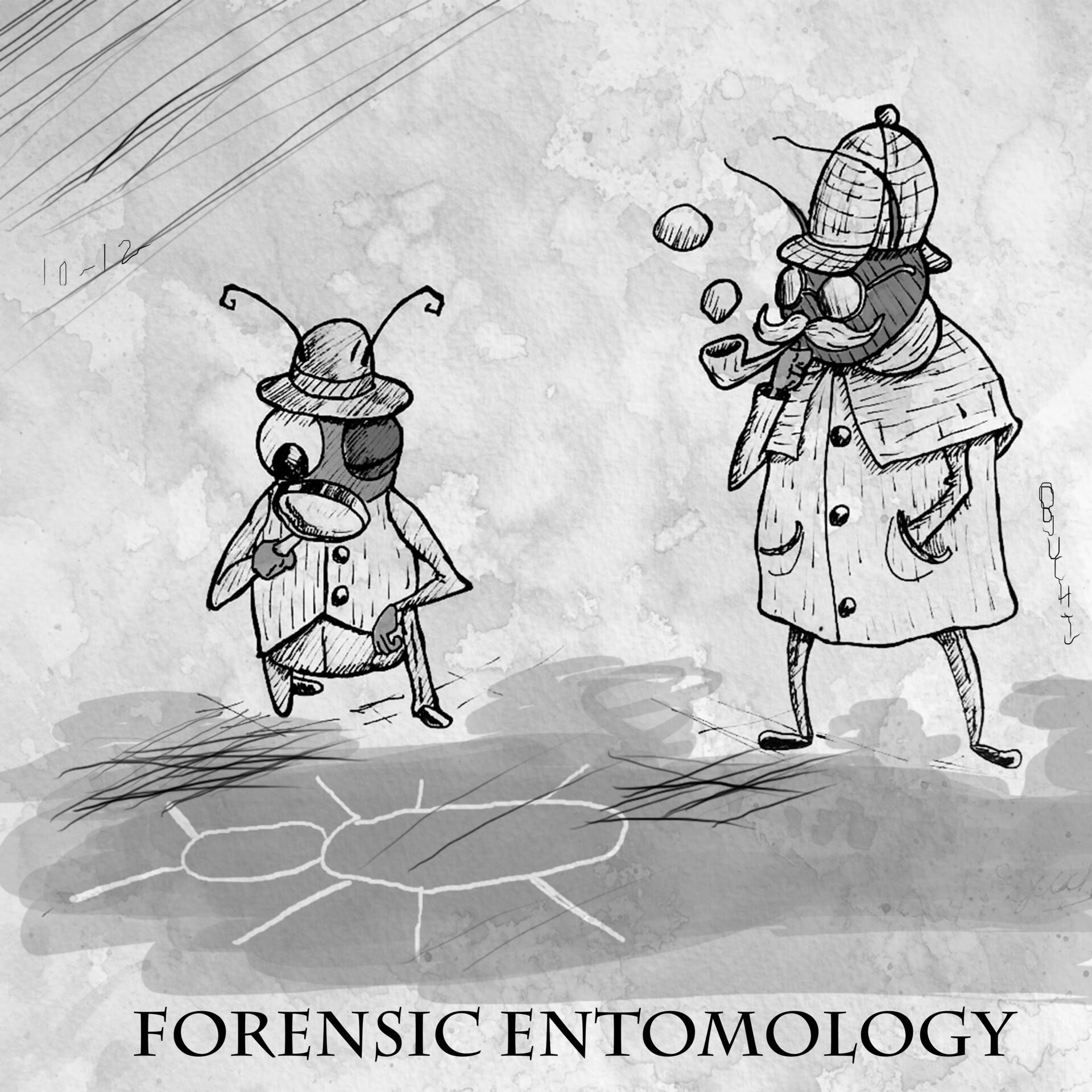 Artstation Forensic Entomology Student Magazine Illustration Oguchi Anyaele