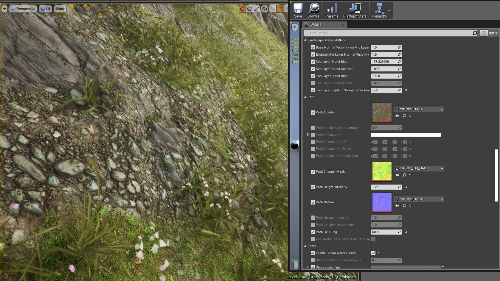 ArtStation - UE4 Auto Landscape Master Material Pack