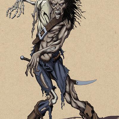 Robert shepherd zombie rendered