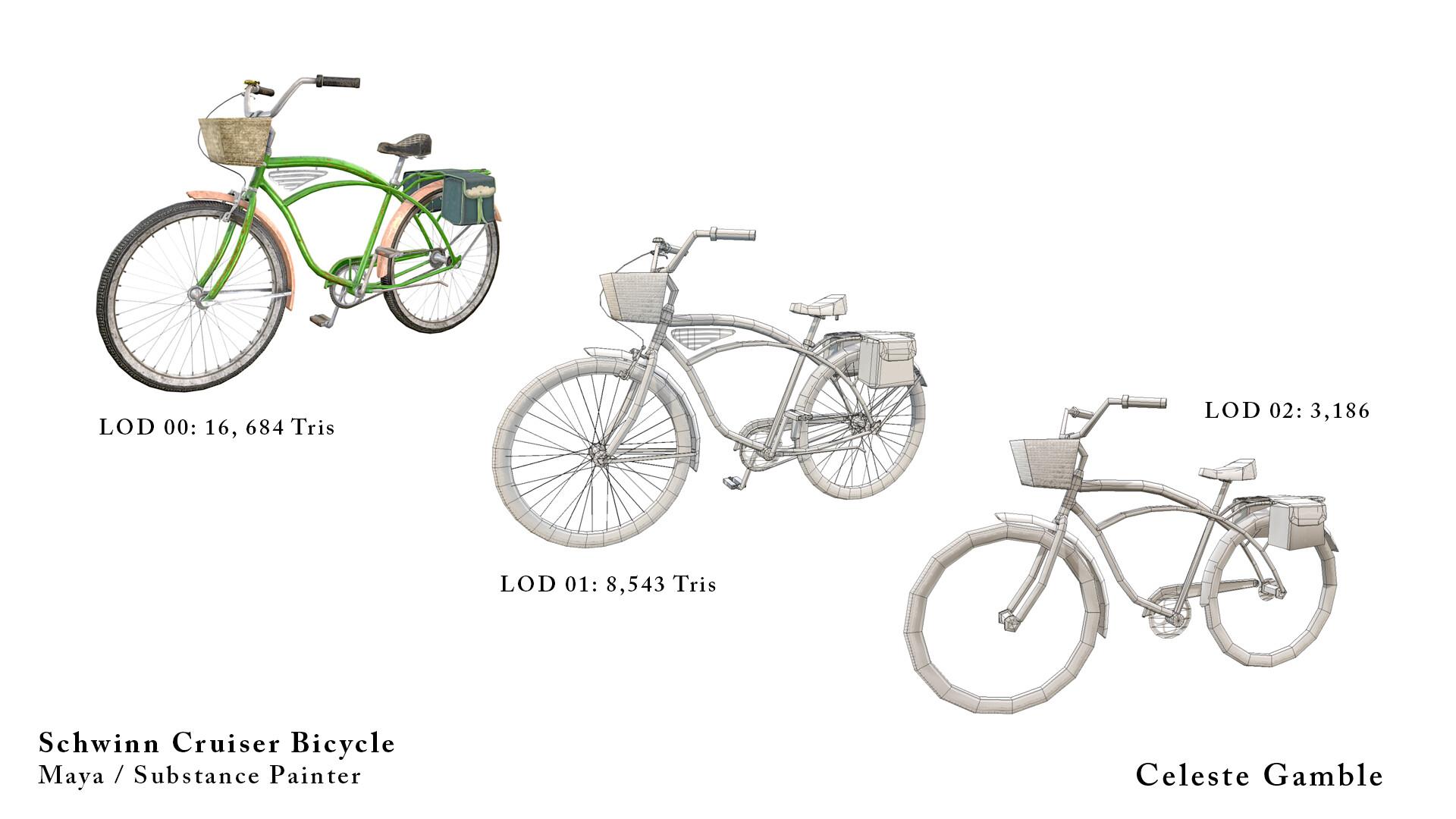 ArtStation - Schwinn Cruiser Bicycle, Celeste Gamble