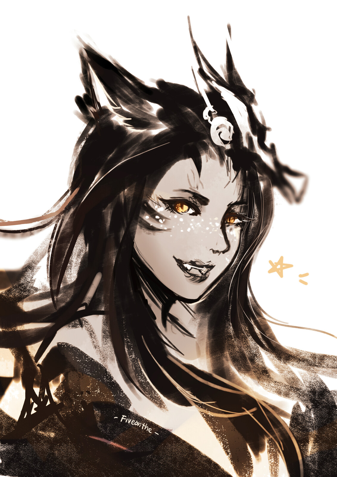 ffxiv. b&w Sketches compilation.
