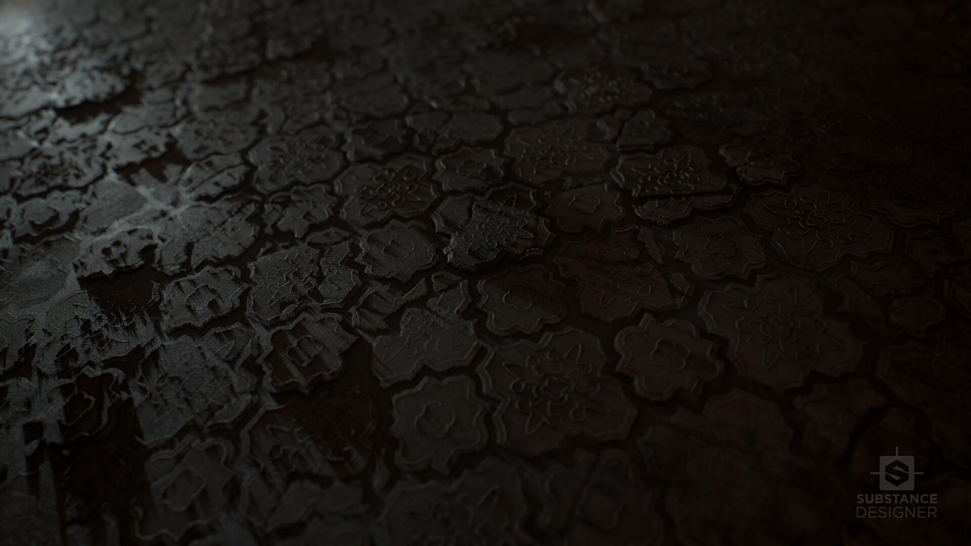 Paul Louret - Grey Pavestone Tiles - Material Study