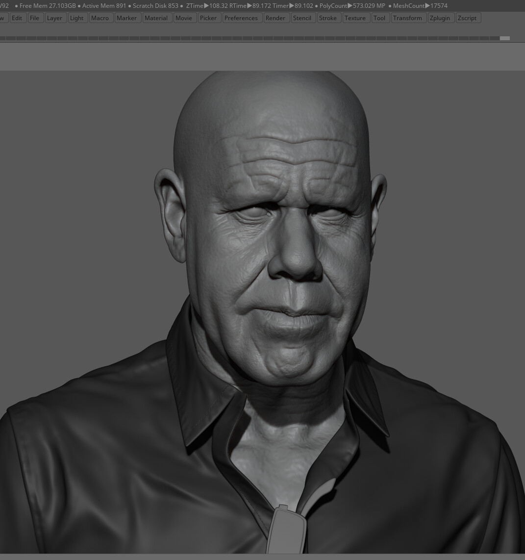 Jacques defontaine ron wip v23zbrush