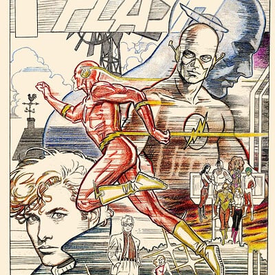 Jerome moore flash flashback cover sketch