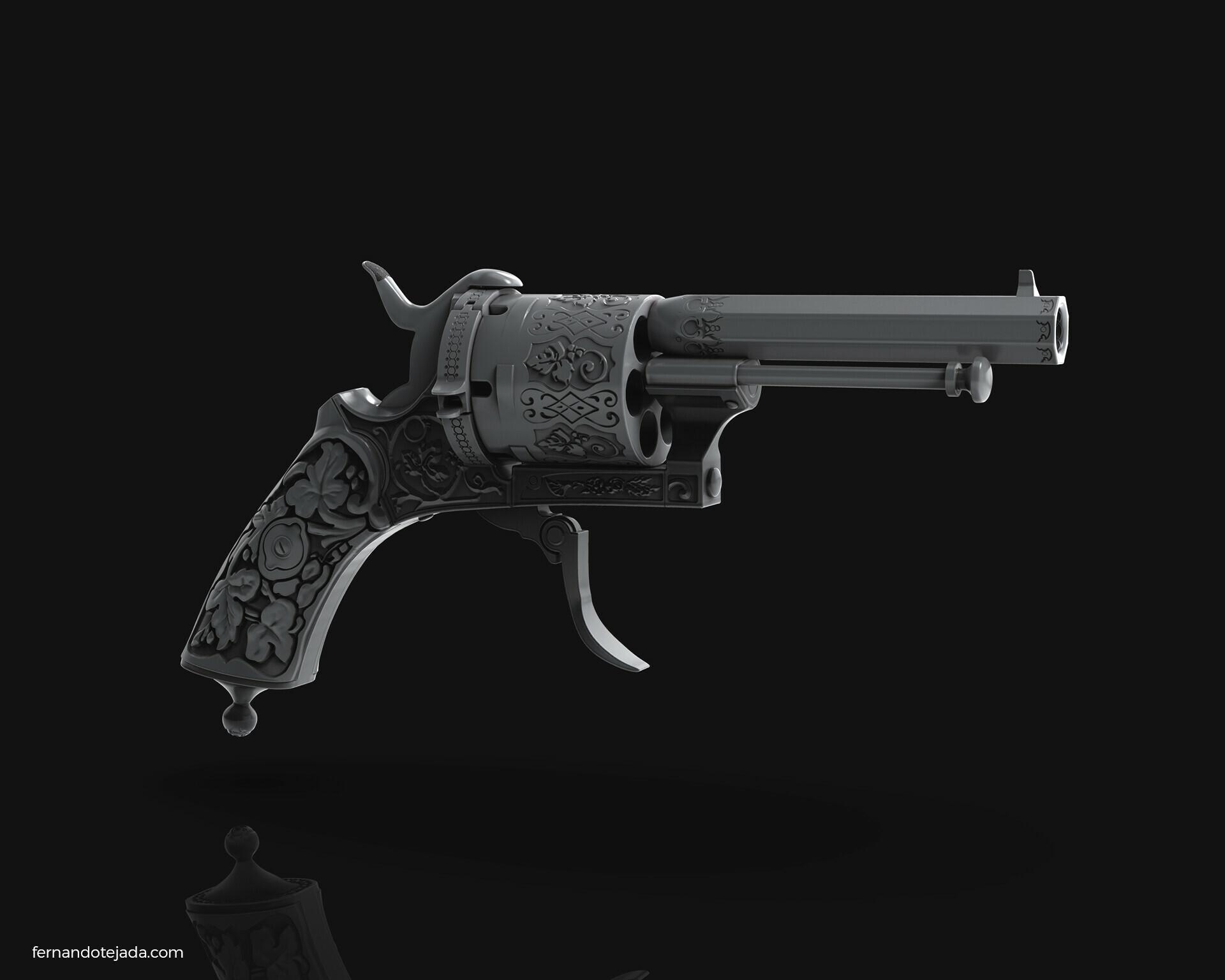 Vintage french revolver 5