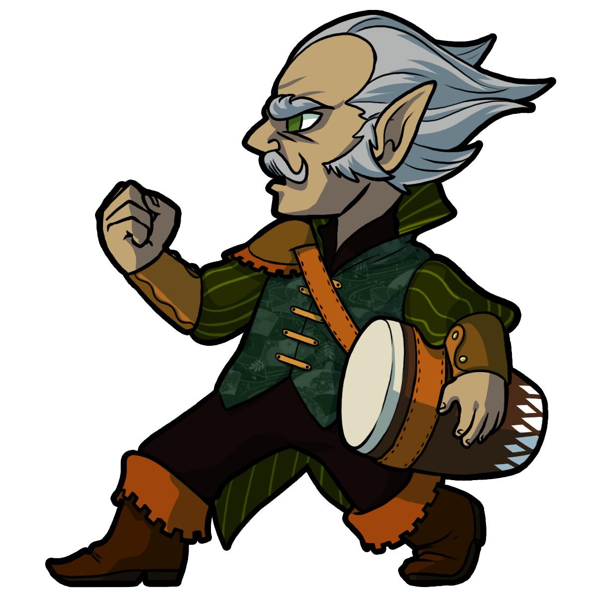 "Bodrick ""Buster"" a gnome bard."