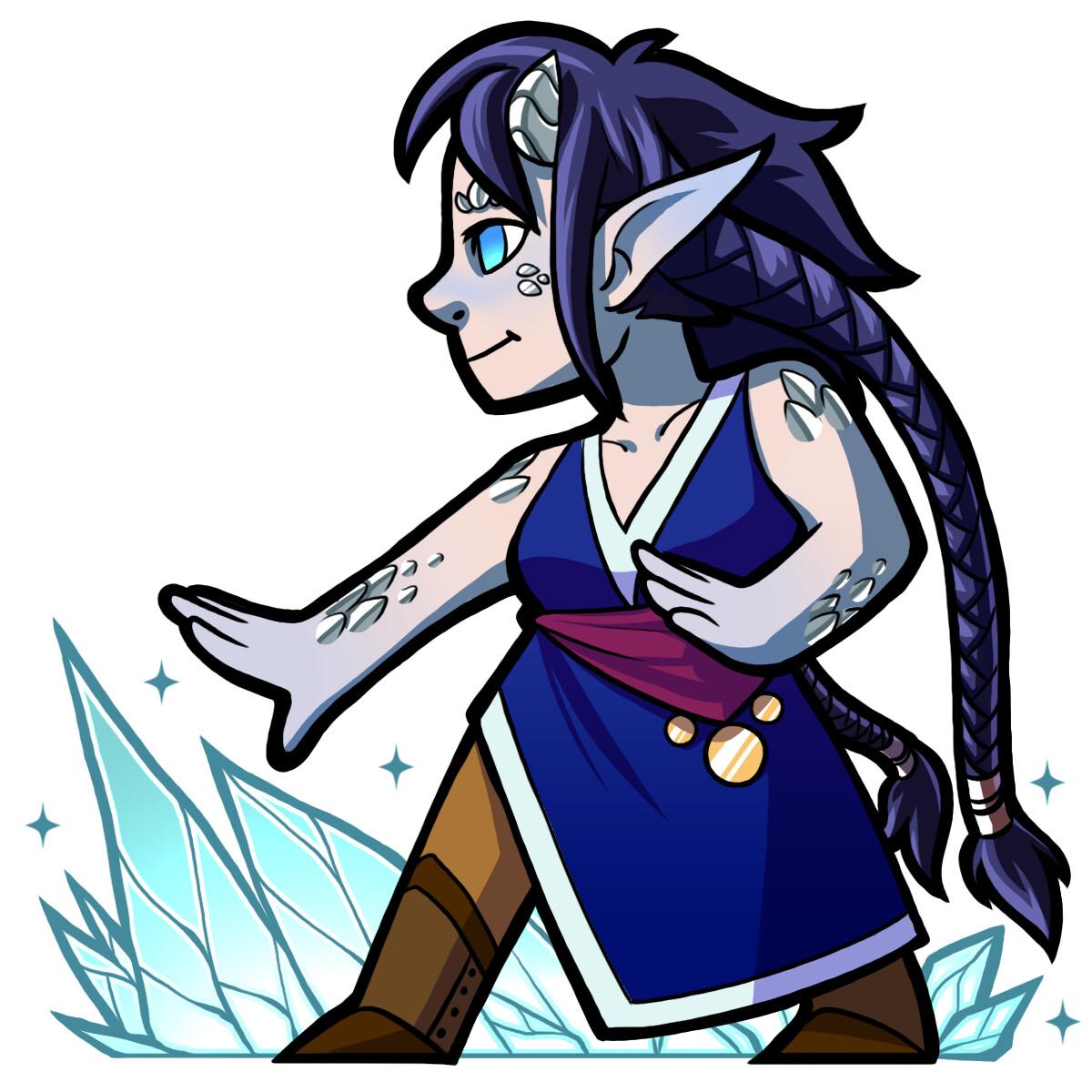 Vixen, a dragon-blooded sorceress.