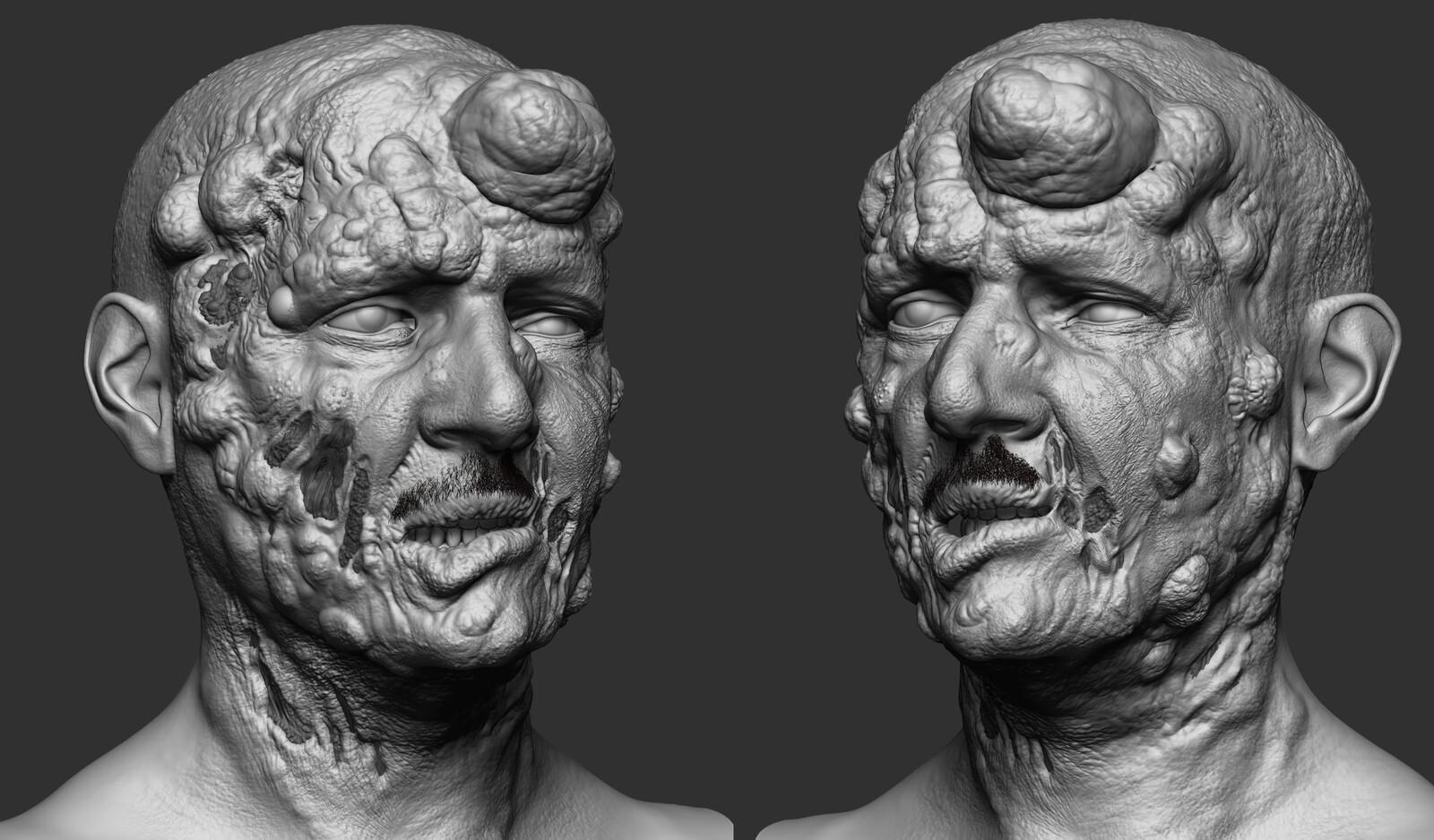 Zombie Dad Zbrush Sculpt