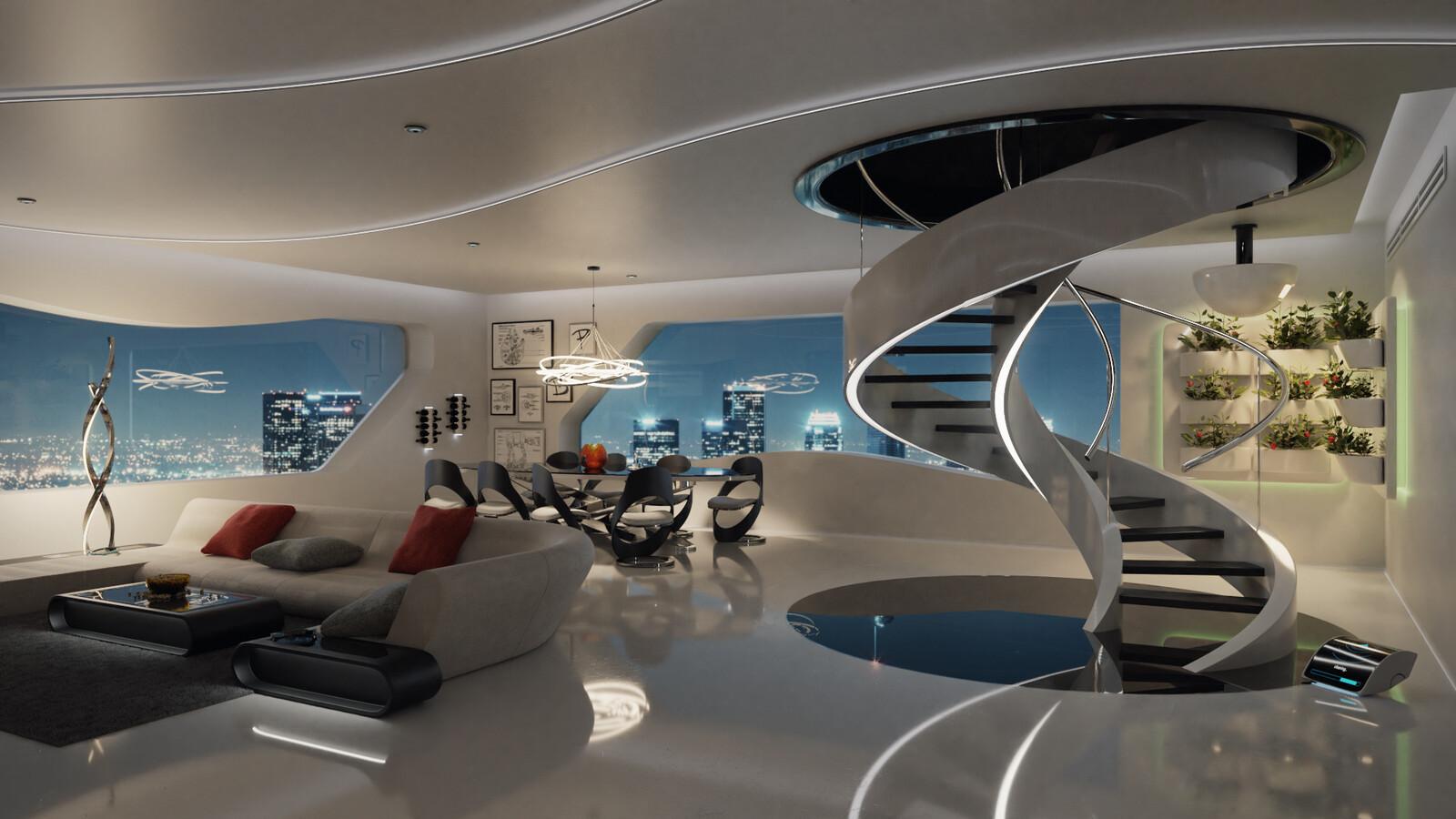 NVIDIA Metropia 2042: Interiors of the future