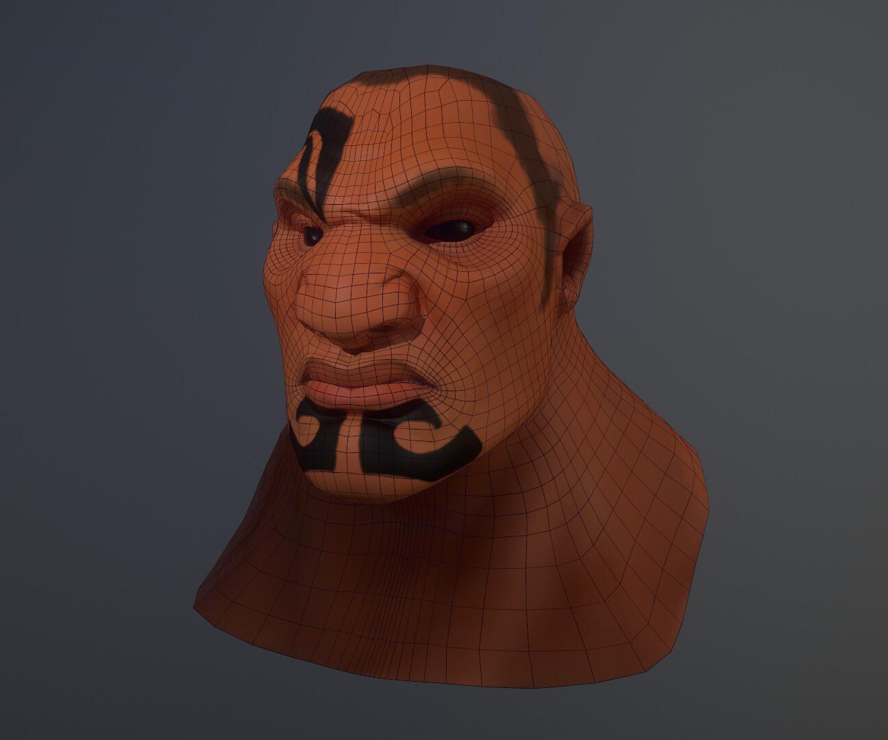 8K bust of Rau in Marmoset