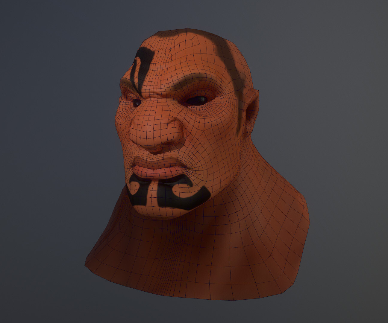 8K bust of Rau in Marmoset