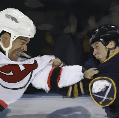 Liam foley nj vs bs ice hockey fight
