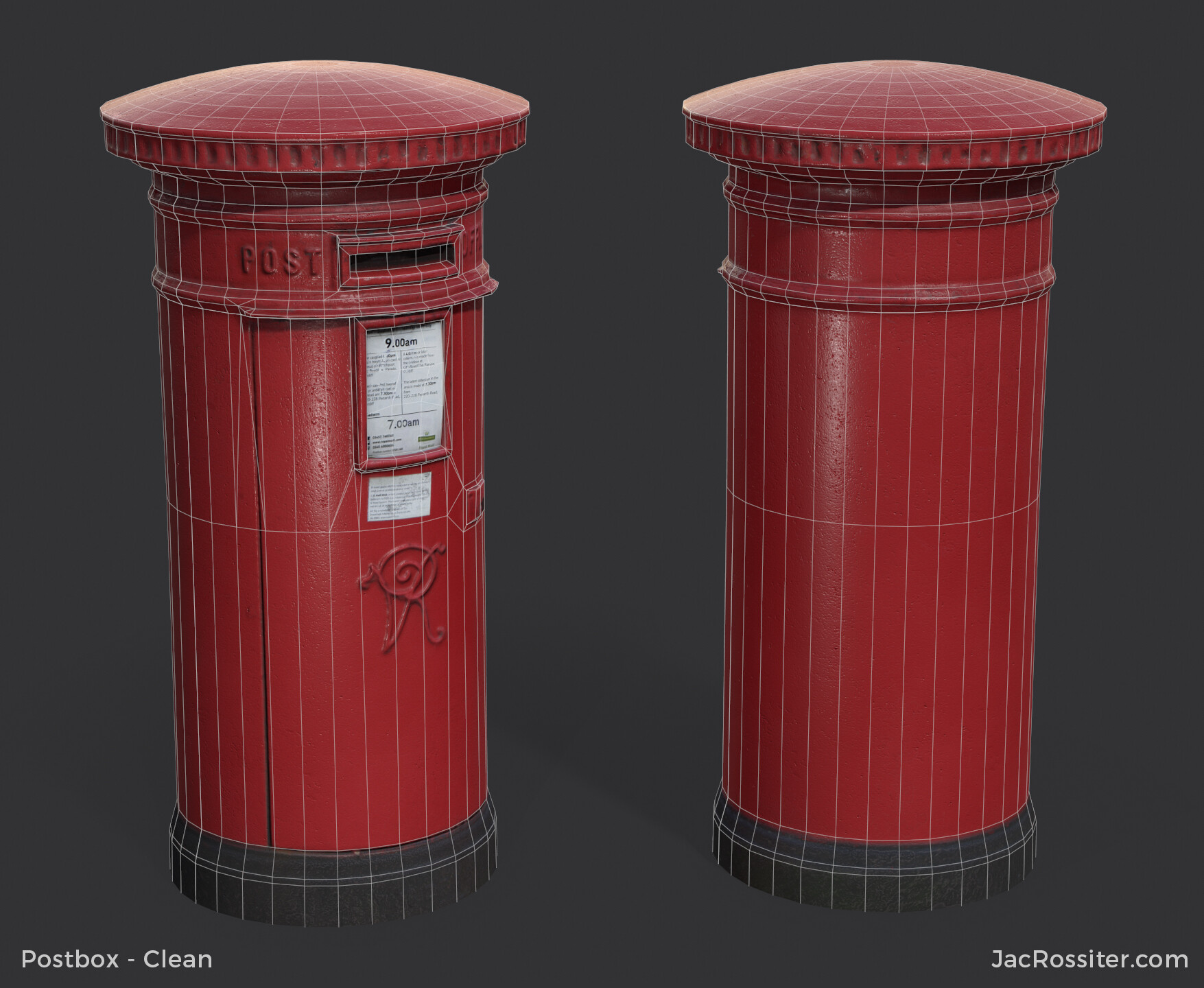 Jac rossiter postbox render b w