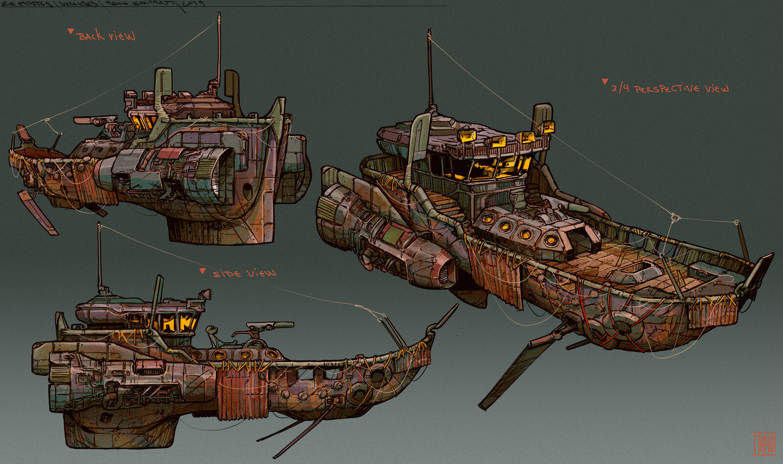 Tugboat concept art