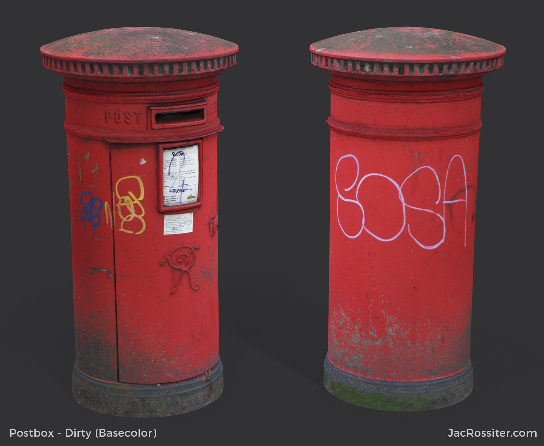 Jac rossiter postbox render a basecolor
