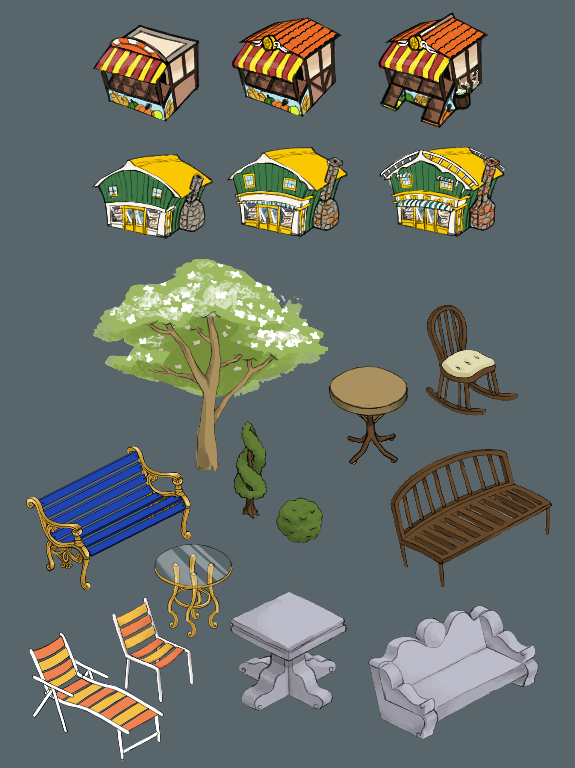 Ideas for buildings and environmental props
