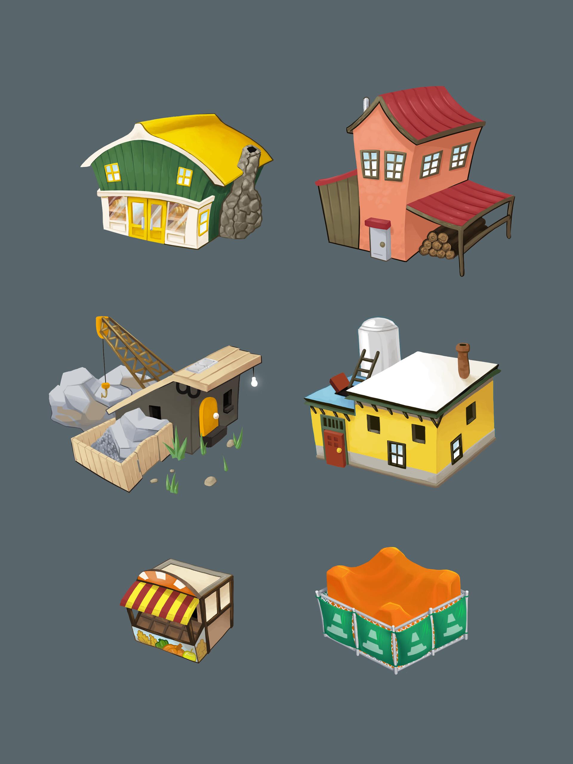 Painted building concepts