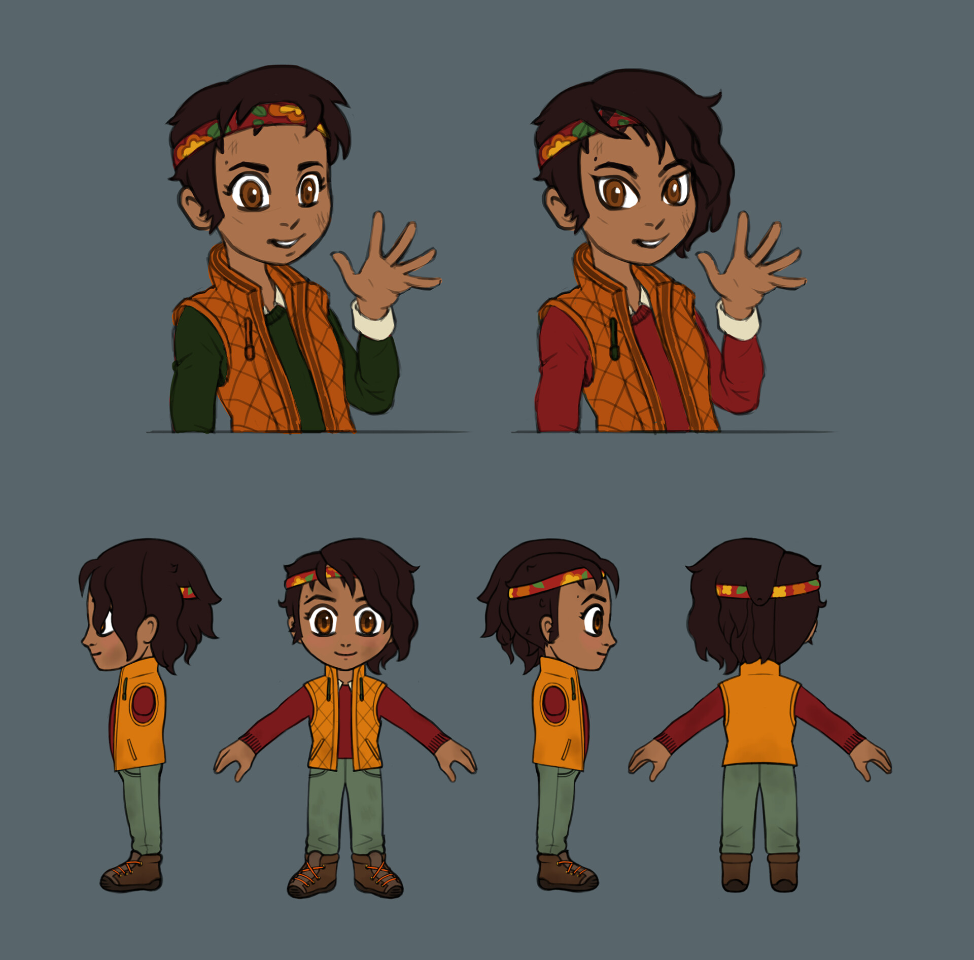Player's friend - preliminary concepts and final turnaround