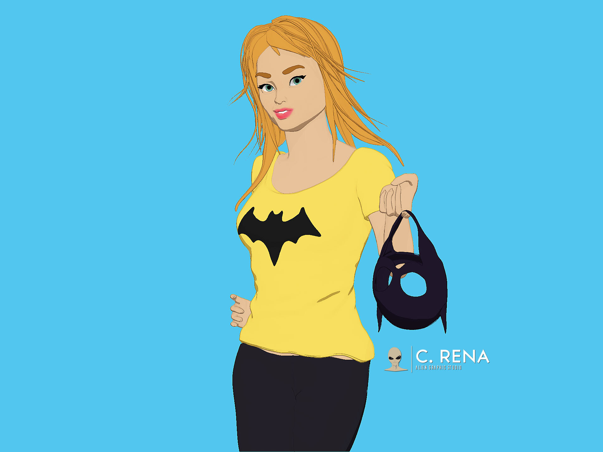 Barbara Gordon (Flat Color illustration)