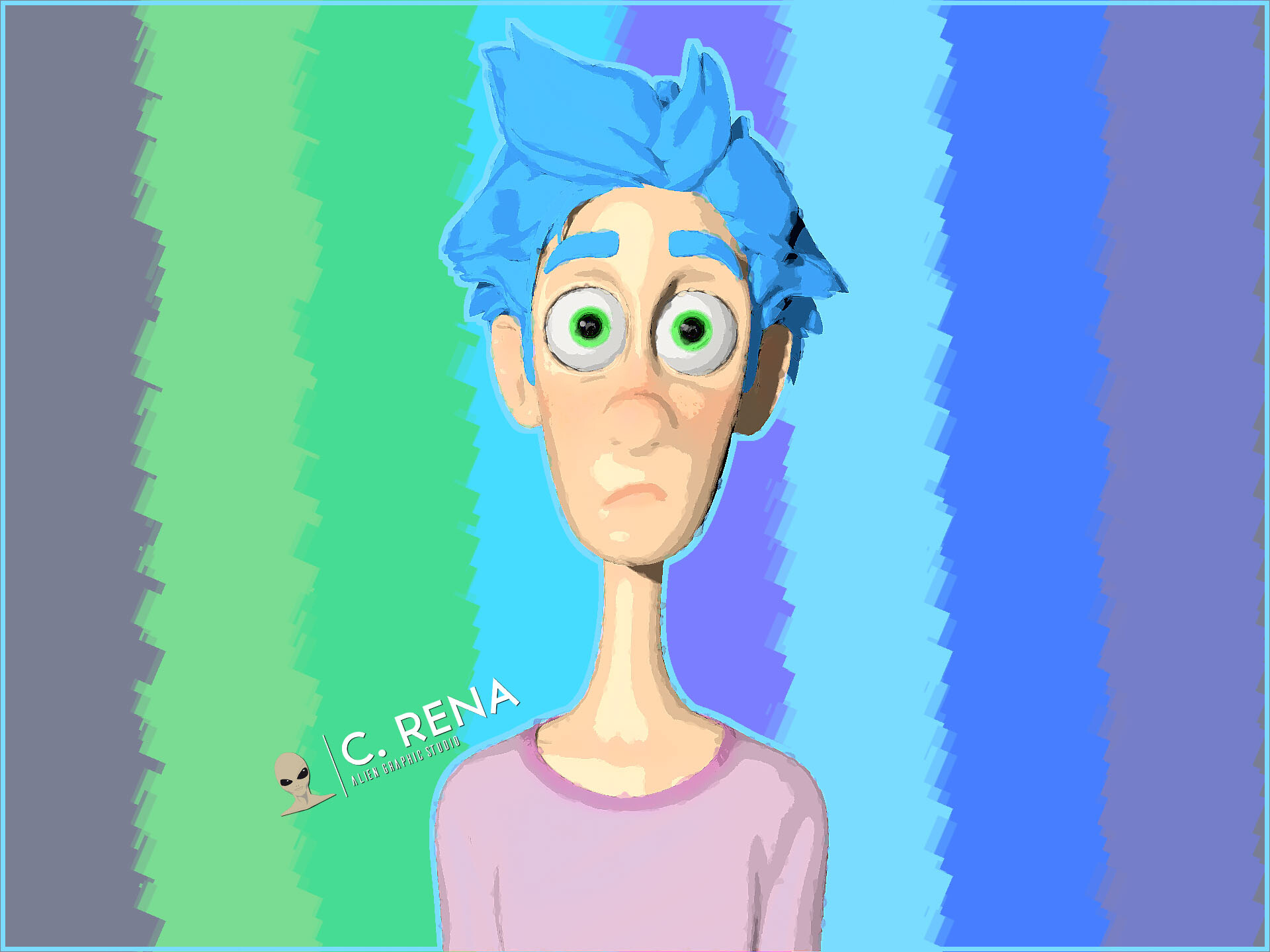 Blue Hair boy (childrens book)