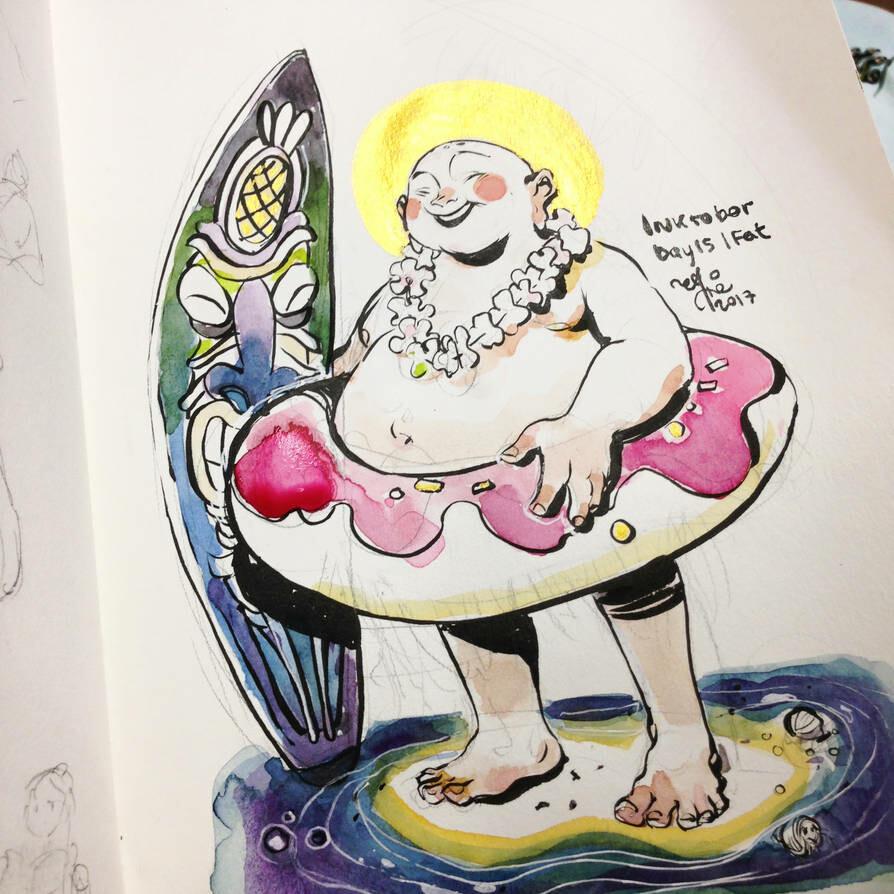 INKtober day16 | fat. My aspirations.