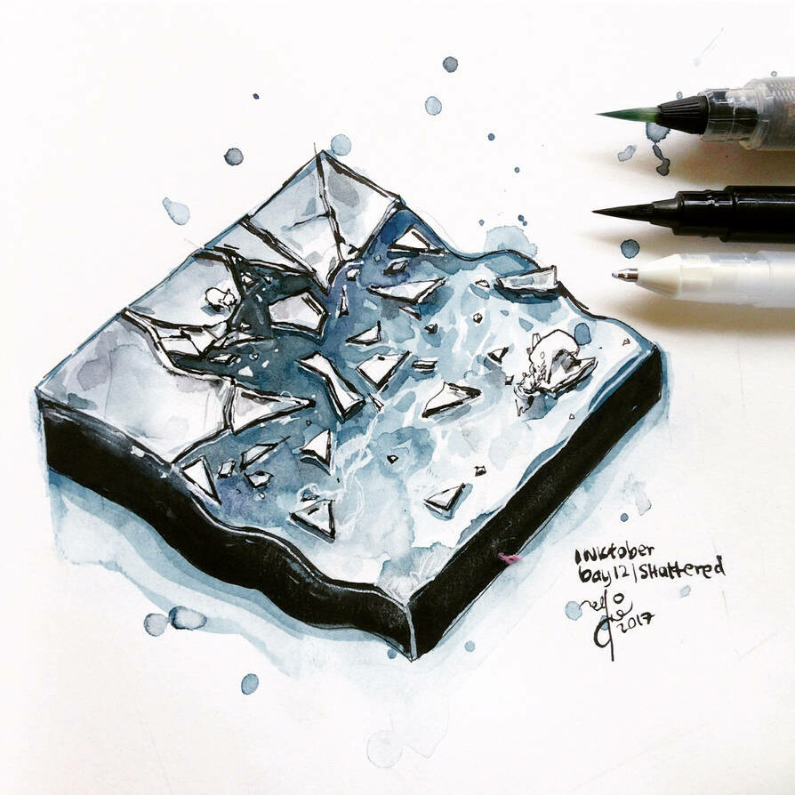 INKtober day 12| shattered.