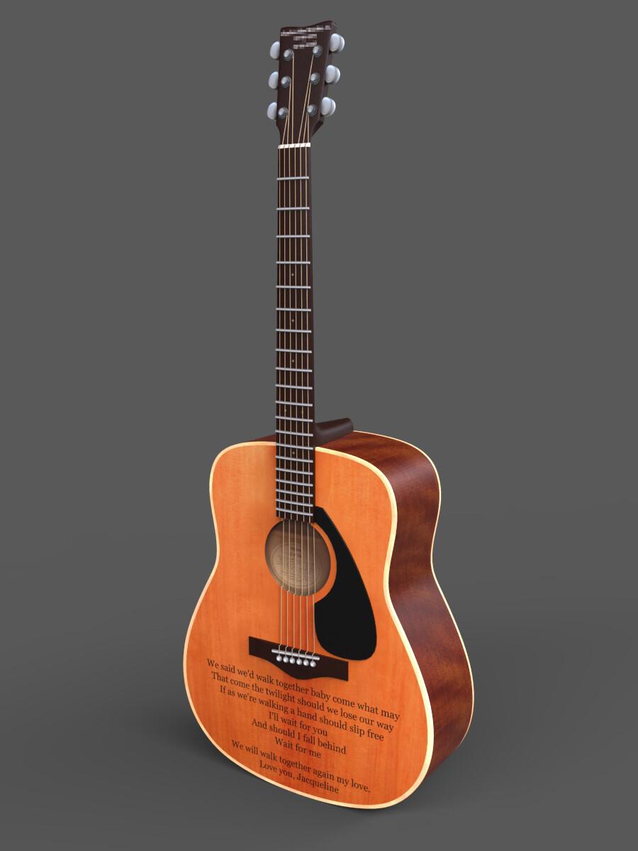 Ken calvert guitar render portfolio