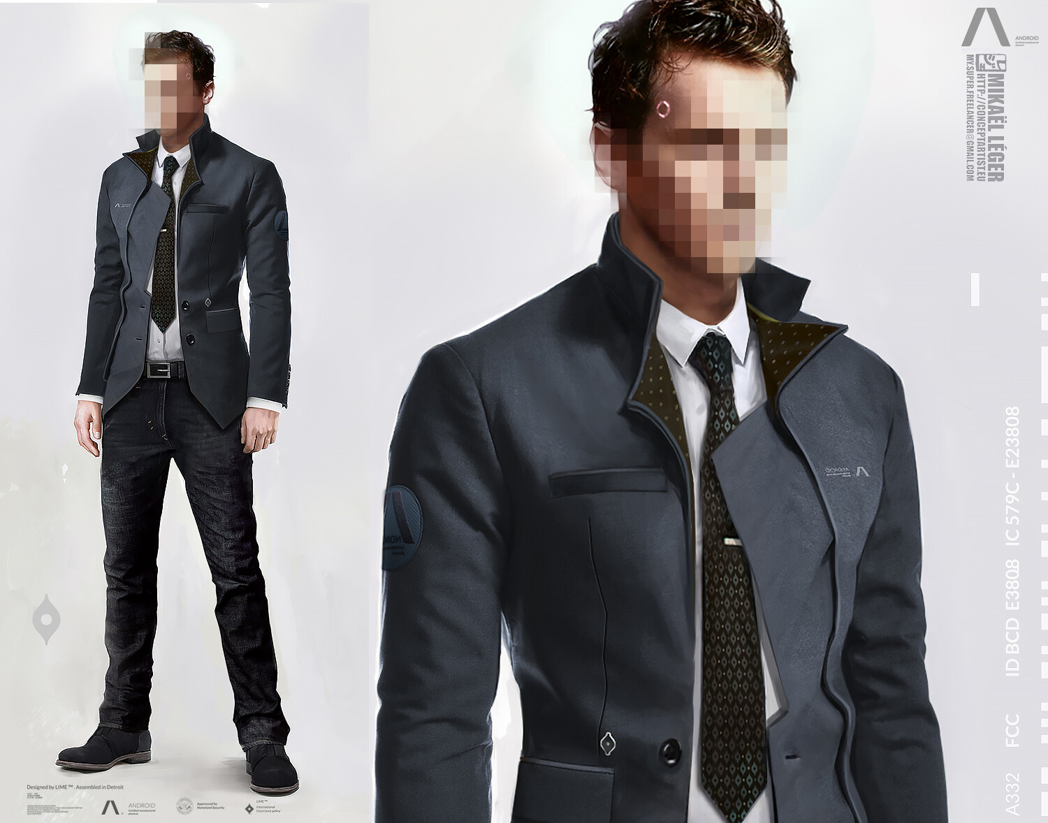 DETROIT : Become Human Early Connor concept.
