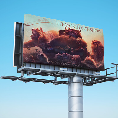 Tami kuo savannah 201920 illu tamikuo hsinyun kuo fife world cat show mockup billboard