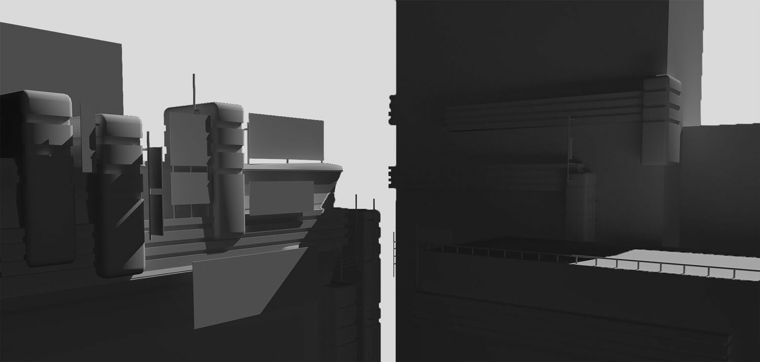 3D Block -in I created in 3DS Max
