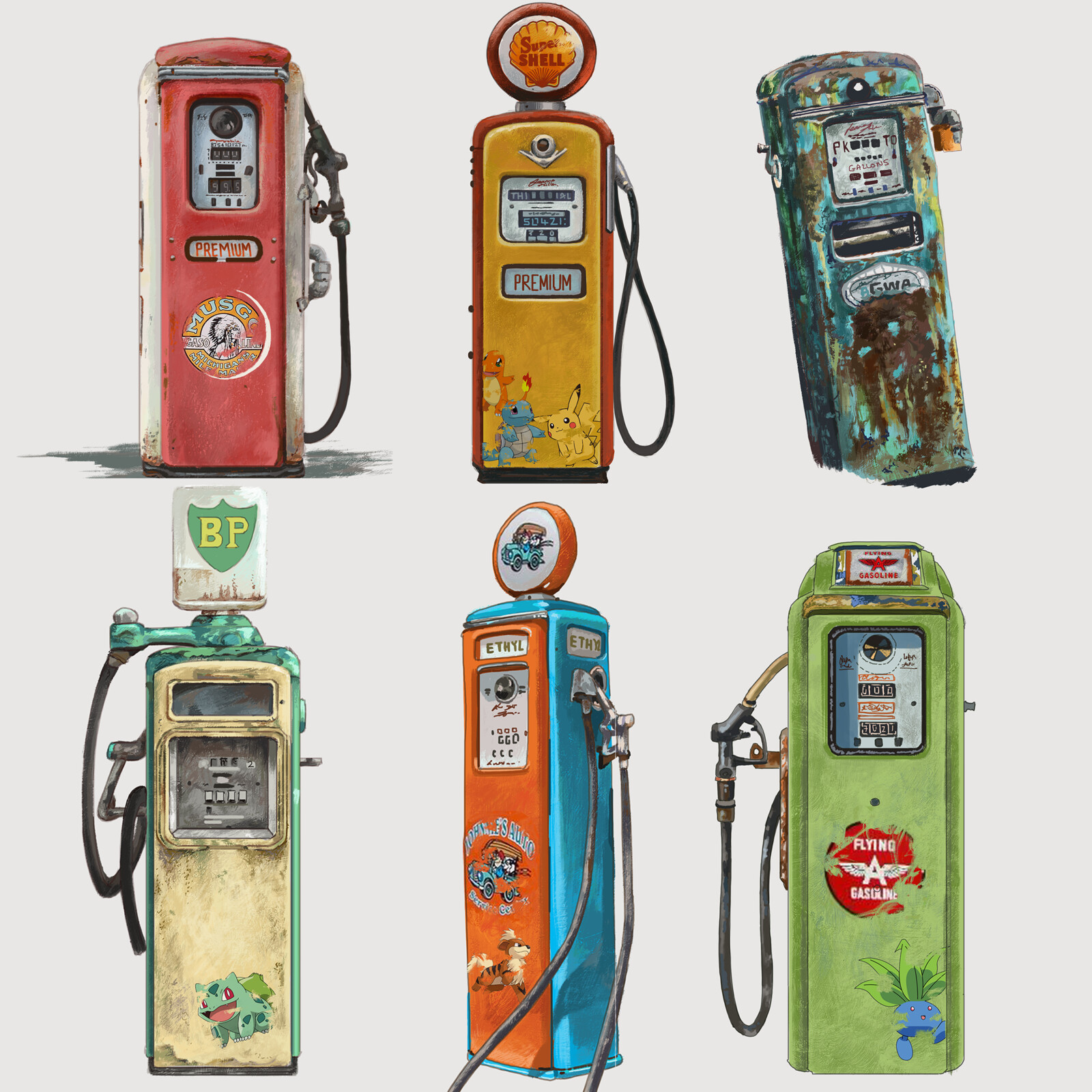 Vintage Pumps - Pokemon Decor