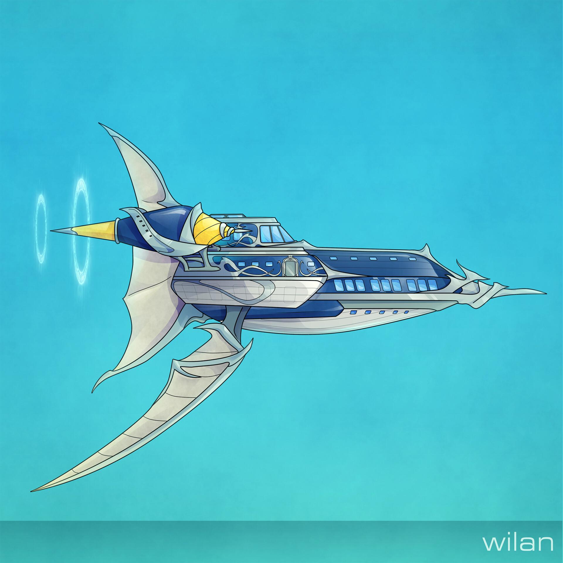 Wilan Serulia - Airyacht - steampunk-fantasy airship design on