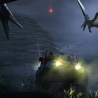 Pierre santamaria jurassic park tiago ernie escape from isla nublar1 stronger version