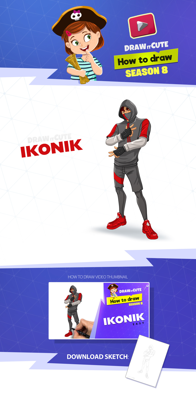 Artstation How To Draw Ikonik Easy Fortnite Season 8